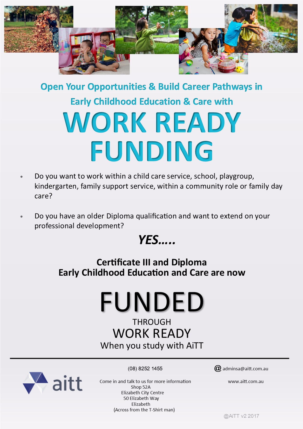 Northern adelaide jobs talent community work ready funding available to help progress your career in early childhood education and care read more 1betcityfo Image collections
