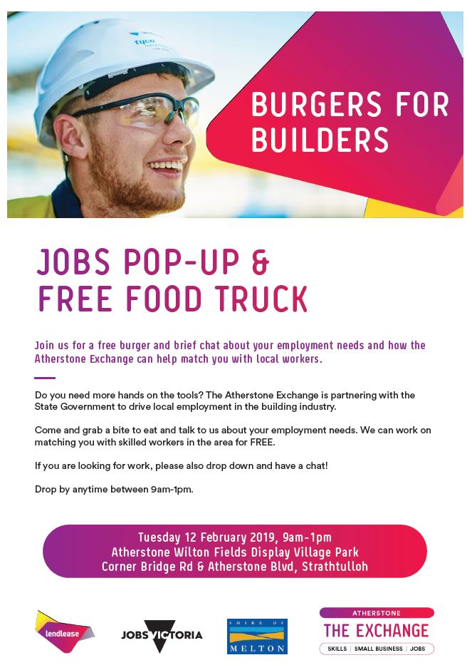 Jobs Pop-up and Free Food Truck